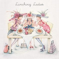 Lunching Ladies, Ladies Who Love Life ... Berni Parker funny cute art