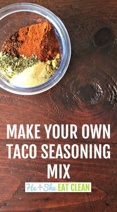 This is THE BEST homemade taco seasoning! Get rid of all of the unnecessary ingredients and make your own taco seasoning mix.