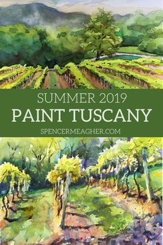Do you want to take an all inclusive vacation to Italy? Then click here to learn about this Plein Air Painting workshop by artist, Spencer Meagher. If you sign up for this event, you will travel to Tuscany and paint in watercolor or acrylic in the outdoors. This once in a life time trip will be a great gift for anyone who loves traveling, painting or luxury vacations. #tuscany #italy #pleinair #watercolorworkshop #spencermeagher #luxuryvacation