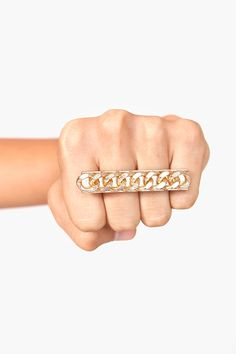 Chained Two-Finger Ring