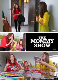 """Have you seen """"The Mommy Show""""? Ilana Wiles from MommyShorts.com interviews celebrity guests in her home while taking care of her kids. This week's guest is Julianne Moore. She helps label clothes for preschool, makes folder paper butterflies and tries and fails to buy something from Mazzy's store. She's also giving away three signed copies of her book """"My Mom is a Foreigner, But Not to Me"""" at the link."""