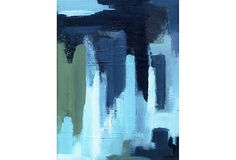 City I - A giclée reproduction of an abstract cityscape