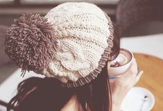 Love the pompom hats for winter, so cute!