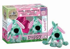 Kinnerton Fabric Animals Puppy Confectionary and Keyring Combo. Fabric Animals, Recycled Fabric, Heart Shapes, Recycling, Puppies, Cubs, Upcycle, Pup, Newborn Puppies