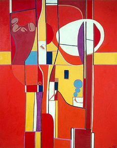 In the Garden, 1978. By Françoise Gilot (France, born 1921). Oil on canvas.