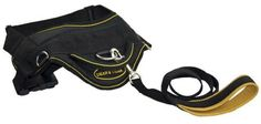 Dean and Tyler Combo  One DT Harness Yellow Large 32  42 With One Matching Padded Puppy Leash 6 FT Stainless Steel Snap Hook  Black -- Continue to the product at the image link.