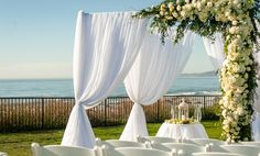 Ochun Studio Design. Joel Johnson photography  beach front wedding, wedding inspiration, real wedding, wedding canopy, unity candle ceremony, San Francisco florist, wedding decor, wedding design