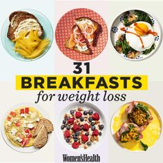 Exactly What You Need To Eat For Breakfast If You Want To Lose Weight 31 Healthy Breakfast Recipes That Will Promote Weight Loss All Month Long Breakfast Desayunos, Easy Healthy Breakfast, Healthy Snacks, Breakfast Ideas, Healthy Breakfasts, Healthy Breakfast Recipes For Weight Loss, Eating Healthy, Breakfast Smoothies, Healthy Weight