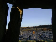 Unusual view of the Poulnabrone (Hole of Sorrows) dolmen in the Burren with Spirit of Burren tours www.spirit-of-burren.com Ireland, Places To Visit, Spirit, Tours, Mountains, Travel, Beautiful, Viajes, Destinations