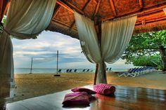 Located some 80 km from Cebu and Mactan International Airport, Alegre Beach Resort and Spa is set amidst 7 hectares of lush tropical gardens featuring 20 luxurious cabanas with 2 spacious bedrooms, each measuring 60 sqm, with all conveniences one might expect from a five star resort.