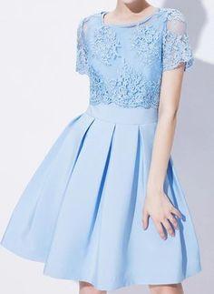 0ef9a636a2e71 レース刺繍の上着付き☆パーティー・結婚式・二次会に♪. 半袖ドレス