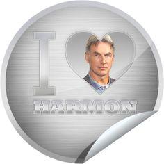 I Heart Mark Harmon Sticker