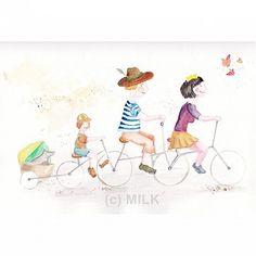 milk / bicyklisti Milk, Handmade, Art, Paper, Art Background, Hand Made, Kunst, Performing Arts, Handarbeit
