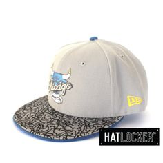 NBA Chicago Bulls Grey Fitted by New Era | www.hatlocker.com #newera #chicago #bulls #nba