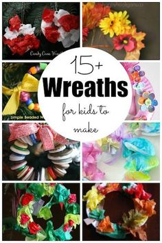 Easy Wreaths for kids to make for all seasons and occasions. Check out these easy wreaths for kids to make using materials you already have around your house. Terrific projects for home, daycare or preschool! Easy Arts And Crafts, Crafts For Kids To Make, Craft Activities For Kids, Fun Crafts, Preschool Art, Winter Activities, Christmas Activities, Easy Art Projects, Projects For Kids