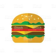Hamburger icon on white background. royalty-free stock vector art