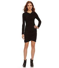 Jodi Kristopher LongSleeve Ruched Sides Dress #Dillards