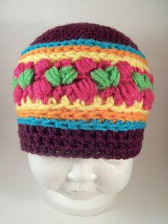 Fruitloop Hat/Beanie Crochet Pattern Newborn-Adult