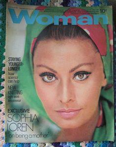WOMAN magazine 1969 Sophia Loren March 8 8th