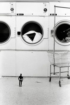 Batman à la laverie !