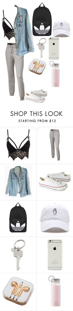 """""""Untitled #81"""" by triz01 on Polyvore featuring Club L, adidas, Converse, Topshop, Paul Smith, PhunkeeTree and Kate Spade"""