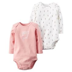 "Baby Girl 2-pk. ""Daddy's Girl"" & Feather Bodysuits, Size:"
