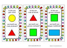 Ik heb wie heeft vormen en kleurenspel Rembrandt, Teacher Tools, Math Classroom, Paper Clip, Primary School, Diy For Kids, Spelling, Vocabulary, Teaching