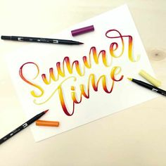 Letter Lovers: lettersis zu Gast im Lettering Interview Summer Calligraphy, Calligraphy Art, Creative Lettering, Brush Lettering, Lettering Ideas, Artsy Fartsy, Decir No, Things That Bounce, Typography