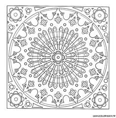 1000 images about colouring for grown ups to cheer up on pinterest anti stress paisley - Coloriage vitraux ...