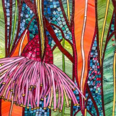 Detail of Flowering Gum mosaic Mosaic Garden Art, Mosaic Tile Art, Mosaic Vase, Mosaic Artwork, Mosaic Diy, Mosaic Crafts, Mosaic Projects, Mosaic Designs, Mosaic Patterns