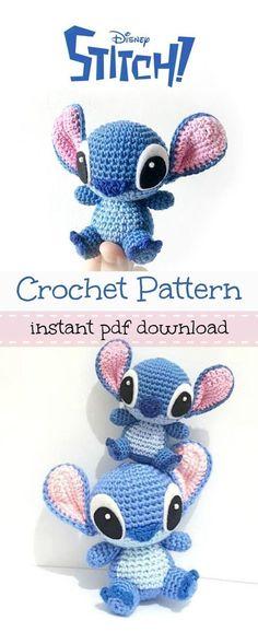 Disney's Stitch from Lilo and Stitch amigurumi crochet pattern. – Wiezu Disney's Stitch from Lilo and Stitch amigurumi crochet pattern. – Wiezu,Stitch Disney's Stitch from Lilo and Stitch amigurumi crochet pattern. Cute Crochet, Crochet Crafts, Crochet Baby, Crochet Projects, Knit Crochet, Crochet Ideas, Funny Crochet, Crochet Summer, Crotchet