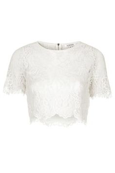 **Sheer Lace Crop Top by Glamorous