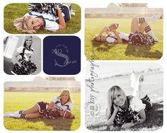 Seriosuly why not give the cheerleader a football! Inspirational storyboard design with cheerleader poses and ideas for seniors or sports teams. Girl Senior Pictures, Cheer Pictures, Sports Pictures, Senior Girls, Senior Photos, Cheerleading Poses, Cheer Poses, Cheerleading Pictures, Cheer Picture Poses