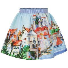Mayoral Riviera Print Cotton Skirt