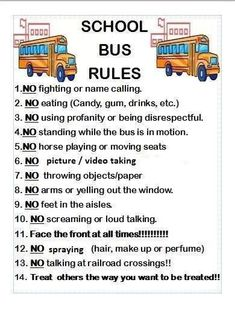 School Bus Driving, School Bus Safety, School Buses, Bus Humor, Bus Information, Bus Crafts, Bus Driver Gifts, Rules For Kids, Wheels On The Bus
