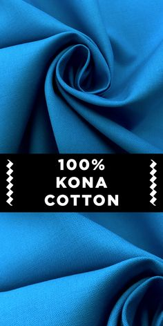 Kona Cotton Broadcloth in Malibu B And J Fabrics, Textile Fabrics, Textile Art, Different Types Of Fabric, Kinds Of Fabric, Sewing Hacks, Sewing Projects, Malibu Blue, Fabric Names
