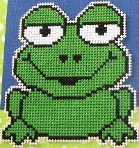 Jolly Green Frog (Free Cross Stitch Patterns)