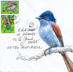 Yann Lesacher, Bretagne Calligraphy Envelope, Envelope Art, Mail Art Envelopes, Mini Doodle, Fun Mail, Decorated Envelopes, Postcard Art, Letter Art, Snail Mail