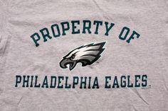 Vintage 90s Property of Philadelphia Eagles T-Shirt, NFL Team Logo Apparel, Philly