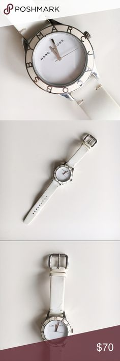 Marc Jacobs White & Silver Watch used Marc Jacobs watch • there are signs of wear on the straps but you could replace them easily with your own new ones • there are no problems, scratches, or stains on the face of the watch -- it remains in perfect shape • will bundle if you find anything else you like in my closet! Marc Jacobs Accessories Watches