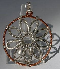 Loveknot Pendant, a Free Wire Jewelry Pattern by Denny Diamond for Wire-Sculpture.com
