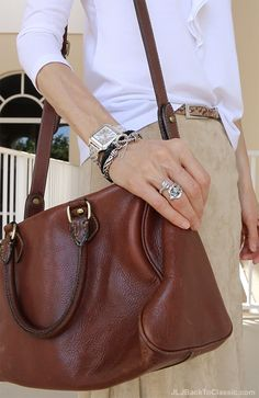 (Video) Classic Fashion Over 40/How To Style a Faux-Suede Skirt For Summer: With a Talbots White Ruffled Tee, Leather Huaraches, and a Vintage Ralph Lauren Bag – JLJ Back To Classic/JLJBackToClassic.com
