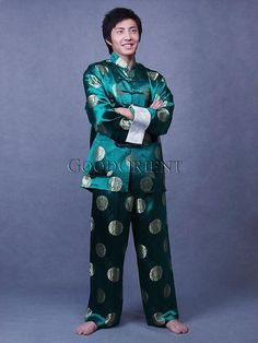 Green Blessing Brocade Suit