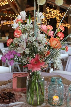 wild flower centerpiece. are these the wild flowers you were looking for?
