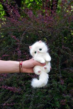 White Persian Emerald Kitten Realistic toy by MonkeyBusinessToys. Fantasy creatures & pets toys from faux fur and polymer clay, Realistic Stuffed Animals toys for kids and adults Pet Toys, Baby Toys, Kids Toys, Baby Boy Rooms, Baby Cribs, Nursery Furniture, Nursery Decor, Realistic Stuffed Animals, Nursery Inspiration