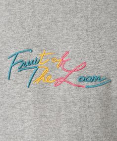FRUIT OF THE LOOM / フルーツオブザルーム 417別注 CURSIVE EMBROIDERY Shirt Embroidery, Embroidery Fashion, Embroidery Designs, Funny Tshirt Quotes, Funny Tee Shirts, Shirt Print Design, Shirt Designs, Fruit Of The Loom, Teen Fashion