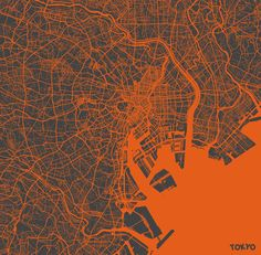 """""""Tokyo Map #2"""" Art Print by Map Map Maps on Society6."""
