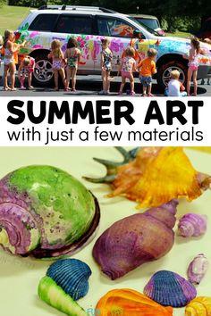 Summer Preschool Activities, Outdoor Activities For Kids, Preschool Art, Easy Art Projects, Projects For Kids, Crafts For Kids, School Fun, Summer School, Summer Kids