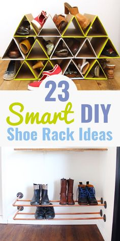 As soon as my kids get home from school, they drop their backpacks and kick off their shoes. Two hours later when dad gets home, he trips over said shoes. That is until I built my handy shoe rack to h Homemade Shoe Rack, Diy Shoe Rack, Shoe Racks, Shoe Organizer, Closet Organization, Kitchen Organization, Diy Furniture Projects, Diy Wood Projects, L Office