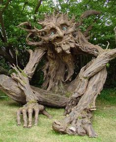 Paper mache troll for your garden? Created by Kim Graham